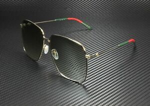 GUCCI GG0394S 001 Gold Women Authentic Metal Sunglasses 61 mm