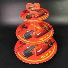 CARS Lightning McQueen red 3-tier party Cupcake Stand **AU Seller!