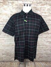 Peter Millar Black / Red  / White Windowpane Mens Short Sleeve Shirt Large - G3