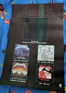 Original Autographed Metallica Poster