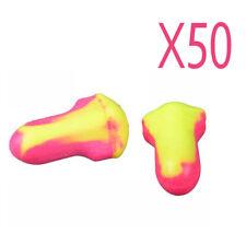 100Pcs Soft Foam Ear Plugs, 50 Pairs of Howard Leight Lite Earplugs SNR 35 dB