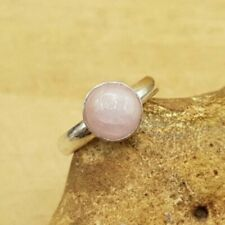 Minimalist Pink Kunzite Adjustable Ring. Handmade Reiki charged