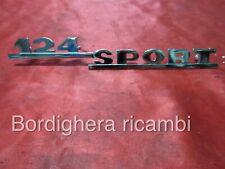 FIAT 124 SPORT COUPE SPIDER CABRIO SCRITTA STEMMA SIGLA BADGE EMBLEM SCRIPT NEW!