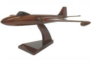 English Electric Canberra PR9 RAF Reconnaissance Aircraft Wooden Desk Top Model.