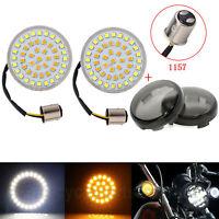 1157 LED Luces intermitentes Inserciones de luz Lente  humo Harley Street Glide