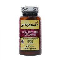 Groganics Healthy Hair Vitamins Dietary Supplement, 30 ea (Pack of 3)