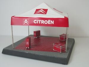 CITROEN RALLY SERVICE ASSISTANCE TENT, 1:43 Scale, BASE & TOOL CHESTS DIORAMA