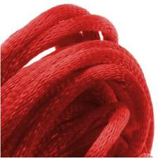 Rayon Satin Rattail 2mm Cord - Knot & Braid - Red (6 Yards)