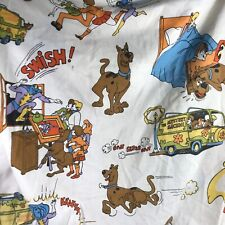 Vintage Scooby Doo Swish Splash Lady Pepperell Double Fitted Sheet RARE