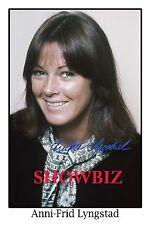 ABBA - ANNI-FRID LYNGSTAD LARGE UNIQUE SIGNED AUTOGRAPH POSTER PHOTO PRINT -