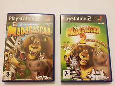 Lote Madagascar 1 y 2 PlayStation 2 (ps2) pal España y completos