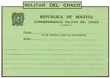 BOLIVIA GREEN CARD CHACO WAR MILITARY CORRESPONDENCE