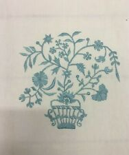 Cowtan & Tout Tamora Blue Embroidered Floral Multi-Purpose Fabric 9.75 yds QW