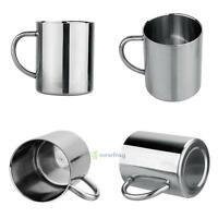 Double Wall Stainless Steel 9OZ Travel Tumbler Tea/Beer/Coffee Mug Children Cup