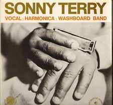 """SONNY TERRY """"VOCAL, HARMONICA & WASHBOARD BAND"""" FOLK BLUES 60'S LP"""