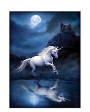 Moonlight Unicorn Mounted Art Print By Anne Stokes