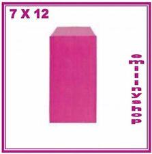 lot 10 pochettes sacs sachets enveloppes kraft bijoux cadeaux..  7x12 rose neuf