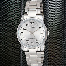 Casio MTP-V001D-7B Men's Silver Dial Analog Watch Stainless Steel Band New