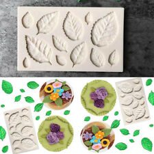 Silicone Leaves Embellisment Fondant Rose Chocolate Cake Decor Sugarcraft Mould