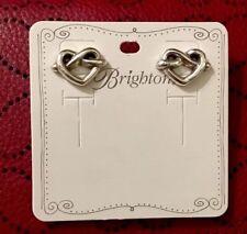 Brighton Heart Loop Post Silver Earrings Ja1949 RTL Super Cute