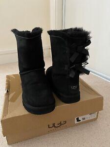 UGG Black Bailey Bow Boots UK8.5