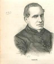 Cardinal Giacomo Antonelli 1806-1876 secrétaire d'État de Pie IX GRAVURE 1883
