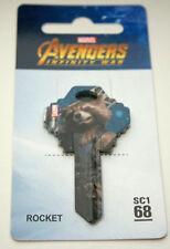 Marvel Avengers Infinity War Rocket GOTG Photo Door Lock 68 SC1 Key Blank New