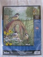 Janlynn MEADOWS EDGE Counted Cross Stitch Kit NEW UNOPENED 14 Ct Aida