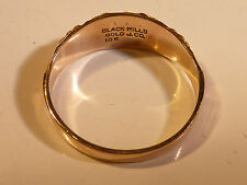 10k Black Hills Rose & Yellow Gold Ring - Size  4.25 Grape and Leaf Design Band