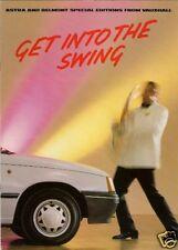 Vauxhall Astra & Belmont Swing Limited Edition 1988 UK Market Sales Brochure