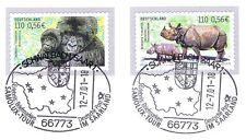 BRD 2001: Bedrohte Tierarten! Selbstklebende Nr. 2204 und 2205! 1A! 1701