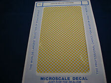 MICROSCALE DECALS AIRPLANE CH-6 1/8 YELLOW CHECKERS NEW