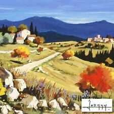 """JOANNY, """"Asters in the Fall"""", Embellished Giclee on Canvas, Limited Edition COA"""