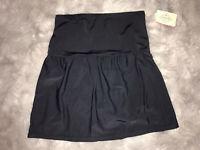 St. Johns Bay Solid Black Swim Tummy Control Skirt Plus Size 18W 20W 22W 24W $54