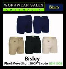 Bisley Short Shorts Stretch Shorter Leg BSH1008, Like FXD WS2 but with stretch