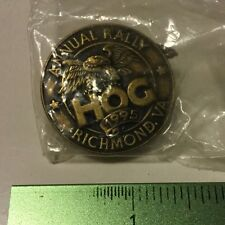 1995 H.O.G. HARLEY DAVIDSON OWNERS GROUP PIN ANNUAL RALLY RICHMOND, VA.