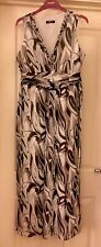 M&Co Petite Black/ Grey Mix Floaty Quality Dress, Size 14 - Stunning!
