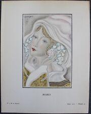 Jean GRANGIER Pochoir Art Déco ORIGINAL N°7, pl. 33 - 1924 GAZETTE DU BON TON