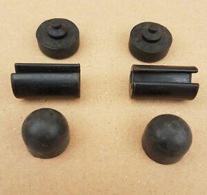 Land Rover Defender Bonnet Buffers/hinges. 332647-391287-346849 complete set