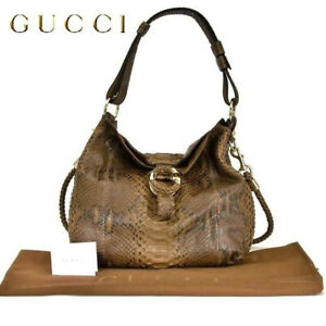 GUCCI ~ PYTHON G WAVE Large TOTE shoulder / crossbody Bag  ~ AUTHENTIC  6000$