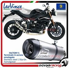 Leovince Factory S Tubo de Escape Triumph Speed Triple 1050 /R 2011>2106
