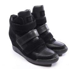 Ash cortos talla d 39 negros señora zapatos Shoes Leather chaussures High Top