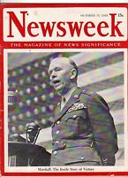 1945 Newsweek October 15-Beast of Belsen confesses;Marines in China; Geo. Patton