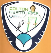 2019 COLTON HERTA signed INDIANAPOLIS 500 HERO PHOTO CARD POSTCARD INDY CAR ver3