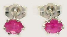 2 Antique 19thC Ruby Medieval Shaman Sorcery Talisman Gemstones Earrings