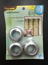 Dritz Home 8 Count Brushed Silver Curtain Grommets One Panel