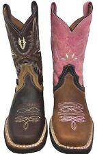 Feminino Dedo Do Pé Quadrado Ocidental Cowgirl Boot Marrom Bota De Dama vaquera tamanho 5-10