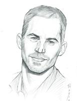 Paul Walker Portrait Drawing - Realistic Pencil Drawing - Original Art