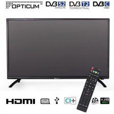 Opticum LED TV 32 Zoll 81 cm HDTV DVB-S2/T2/C H.265 HEVC H.265 CI+ Fernseher