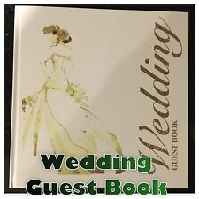 New Wedding Guest Book With Bride Gold Glitter Hardback